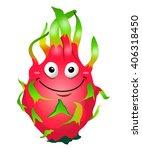 cartoon fun dragon fruit... | Shutterstock .eps vector #406318450