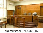 old vintage court room. close... | Shutterstock . vector #40632316