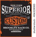 brooklyn t shirt graphic   Shutterstock .eps vector #406328083