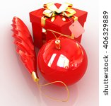 bright christmas gifts on a... | Shutterstock . vector #406329889