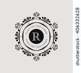 monogram  line emblem. elegant ... | Shutterstock .eps vector #406332628