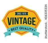 vintage label | Shutterstock .eps vector #406335334