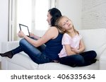 internet network addict mother... | Shutterstock . vector #406335634