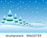 illustration of a winter... | Shutterstock .eps vector #40633759