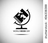 world book and copyright day ... | Shutterstock .eps vector #406338388
