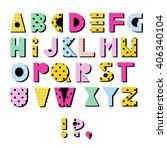 hand drawn alphabet. geometric...   Shutterstock .eps vector #406340104