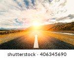 picturesque landscape scene and ... | Shutterstock . vector #406345690