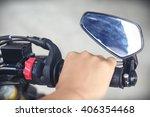part of motorcycle body  speed...   Shutterstock . vector #406354468