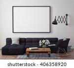 mock up poster with modern loft ... | Shutterstock . vector #406358920