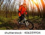 cyclist riding the bike | Shutterstock . vector #406359934
