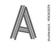 black grunge alphabet in tire... | Shutterstock .eps vector #406363054