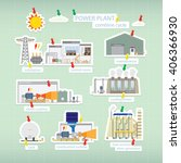 power plant combine cycle in...   Shutterstock .eps vector #406366930