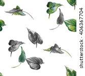 watercolor illustration of leaf ... | Shutterstock . vector #406367704