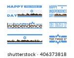 israel independence day... | Shutterstock .eps vector #406373818