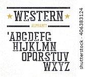 vintage western alphabet.... | Shutterstock .eps vector #406383124
