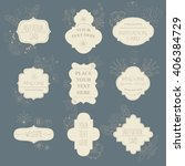 invitation vintage cards with a ... | Shutterstock .eps vector #406384729