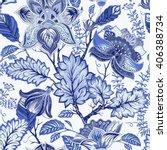 vintage seamless pattern.... | Shutterstock .eps vector #406388734