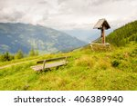 Wayside Cross In The Alps