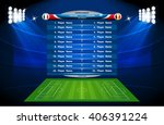 football or soccer playing... | Shutterstock .eps vector #406391224