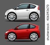 vector modern cartoon car ... | Shutterstock .eps vector #406392670