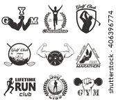 set of vintage sports emblems   Shutterstock .eps vector #406396774