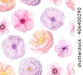seamless pattern with hand... | Shutterstock . vector #406400290