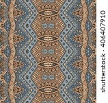 ethnic geometric striped... | Shutterstock .eps vector #406407910