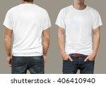 t shirt template | Shutterstock . vector #406410940