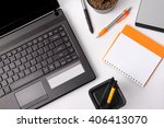 composition of some office...   Shutterstock . vector #406413070