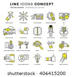 thin line icons set. business...