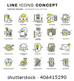 thin line icons set. business... | Shutterstock .eps vector #406415290
