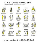 thin line icons set. business... | Shutterstock .eps vector #406415464