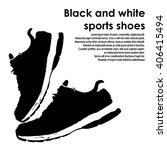 running shoe icon on white... | Shutterstock .eps vector #406415494