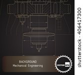 background of mechanical... | Shutterstock .eps vector #406417300