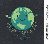 earth day illustration. earth... | Shutterstock .eps vector #406418659