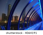 modern bridge   blue light... | Shutterstock . vector #4064191