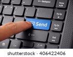 close up shot of a finger... | Shutterstock . vector #406422406