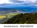 Small photo of Whangapou beach overlook from Mt Hobson, Great Barrier Island, New Zealand
