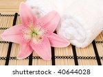 towel and flower | Shutterstock . vector #40644028