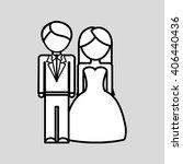 wedding icon design   vector... | Shutterstock .eps vector #406440436
