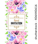 romantic invitation. wedding ... | Shutterstock . vector #406440616