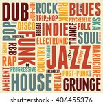 music styles typographic... | Shutterstock .eps vector #406455376