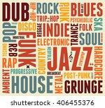 music styles typographic... | Shutterstock .eps vector #406455376