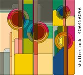 art deco vector colored... | Shutterstock .eps vector #406456096