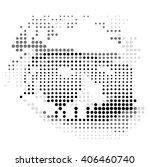 vector color halftone eye.color ... | Shutterstock .eps vector #406460740