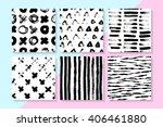 vector seamless patterns set .... | Shutterstock .eps vector #406461880