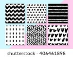 vector seamless patterns set .... | Shutterstock .eps vector #406461898