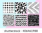 vector seamless patterns set .... | Shutterstock .eps vector #406461988