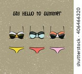 swim suits women collection ... | Shutterstock .eps vector #406466320