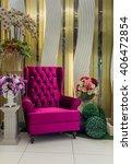 luxurious purple armchair | Shutterstock . vector #406472854